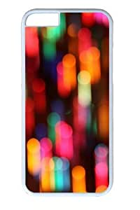 Colorful christmas lights Custom ipod touch4 inch Case Cover Polycarbonate White