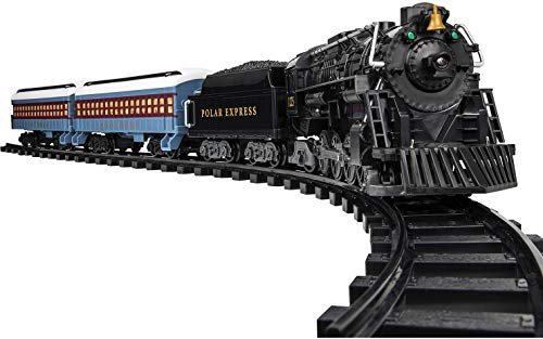 Christmas Tree Trains Sets (Lionel The Polar Express Battery-powered Model Train Set Ready to Play w/)