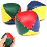 3Pcs Magic Circus PU Juggling Balls Set Bean Bag for Beginner Kids Toy Gift
