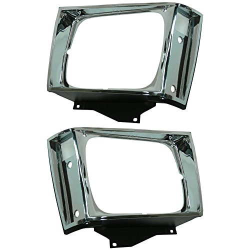 Headlight Door compatible with Chevrolet S10 Pickup 82-90 RH and LH Included Chrome