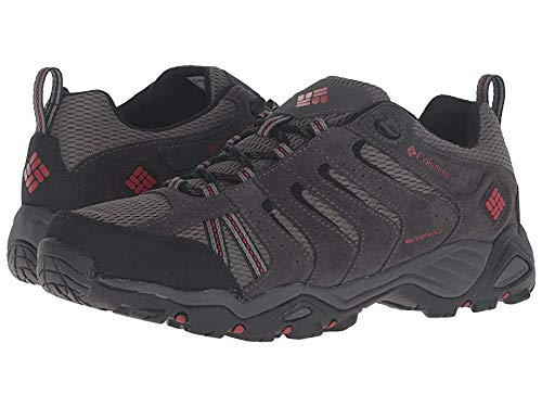 Columbia Men's North Plains II Waterproof Hiking Shoe, City Grey, Rocket, 11 D US