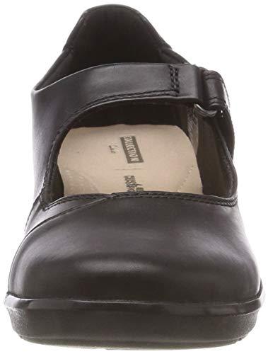 Hope Femme black Henley Noir Mocassins Clarks Leather RUwT8q8