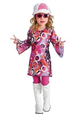 Fun World Costumes Baby Girl's Feelin' Groovy Toddler Costume, Pink, Small - Toddler Feelin Groovy Dress