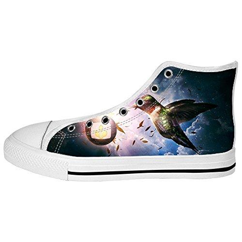 Alto Custom Canvas In Lacci Scarpe Ginnastica Tela Da Sopra Shoes Hummingbird Delle Men's Le Di I SqwfzRq