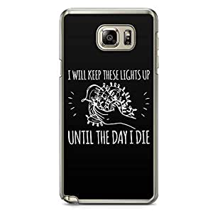 Loud Universe Lights Up Stranger Things Samsung Note 5 Case Day I die Quote Samsung Note 5 Cover with Transparent Edges