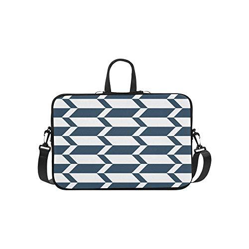 Jacobs Ladder Arrow Block Flooring Blue Pattern Briefcase Laptop Bag Messenger Shoulder Work Bag Crossbody Handbag for Business Travelling