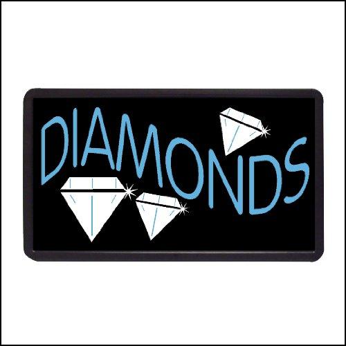 "Diamonds Backlit Illuminated Electric Window Sign - 13""x24"""
