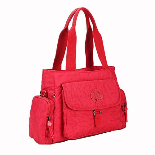GSHGA Bolso De Hombro Del Bolso De Hombro De La Moda Del Bolso De La Bolsa De Las Mujeres,Fuchsia Red