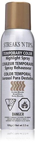 Streaks 'N Tips Golden Blonde Temporary Spray-on Hair Color, 3.5 oz -
