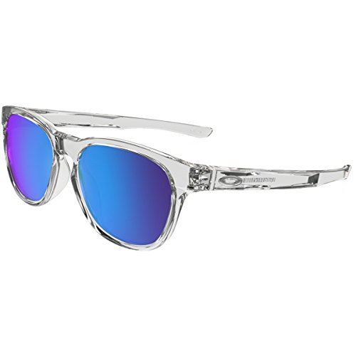 Oakley Men's Stringer Non-Polarized Iridium Rectangular Sunglasses, Polished Clear, 55 - Oakley Stringer