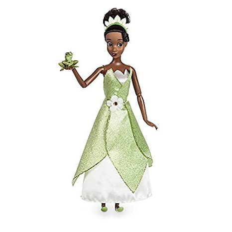Disney Tiana Classic Doll With Prince Naveen As Frog Figure