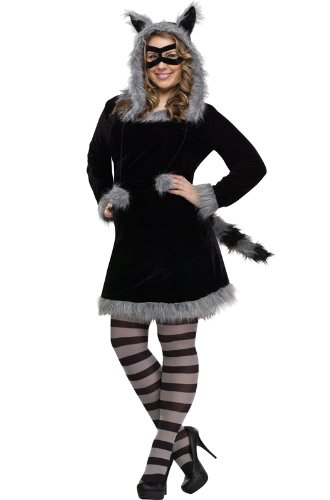 Fun World Girls' Big Plsz Racy Raccoon Cstm, Multi, Plus Size - http://coolthings.us