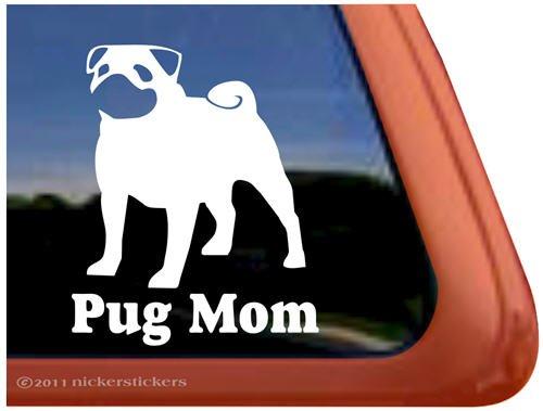 Amazoncom Pug Mom Vinyl Window Decal Dog Sticker Automotive - Window decal sticker
