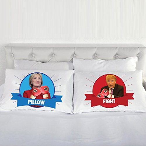 VictoryStore Clinton Trump Pillow Fight Pillow Cases (Case Clinton)