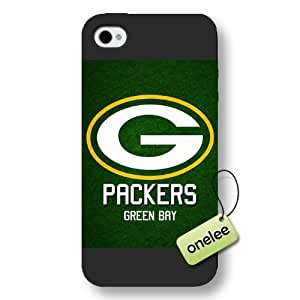 Personalize NFL Green Bay Packers Logo Frosted iPhone 4 Black Case - NFL San Diego Chargers Team Logo Frosted iPhone 4s Case Cover - Black