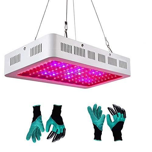 LED Grow Light Full Spectrum Indoor Grow Lights 2 Garden Genie Gloves, Growing Lamps Indoor Plants,1800W