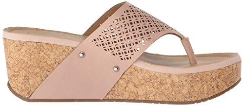 Kenneth Cole Reaction Women's Fan-Tastic Thong Platform Wedge Sandal Blush jGArH3s