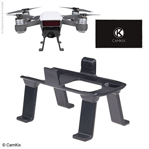 CamKix Landing Gear Compatible with DJI Spark - Extra Height and Safety - Gives Your DJI Drone Ground Clearance - Maximum Stability - Increased Distance Between Camera/Gimbal and Surface