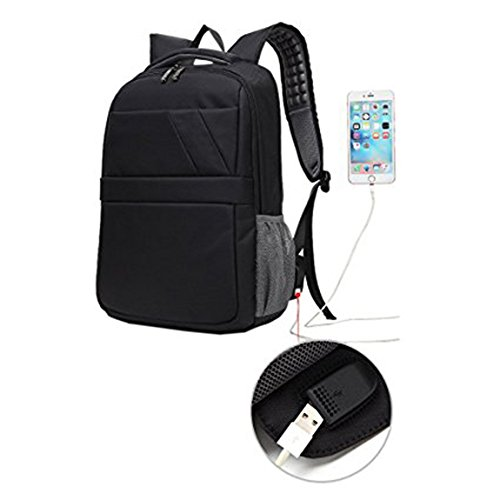 Business Laptop Backpack 15.6 inch with USB Charging Port Waterproof Travel Anti Theft Daypack College Rucksack for Men and Women
