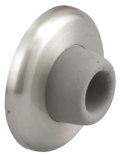 Prime-Line Products J 4540 Wall Stop, 2-1/2 in. Outside Diameter Steel Cover w/1-1/8 in. Round Rubber Bumper