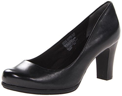 Rockport Women's Total Motion 75mm Plain Pump,Black Leather,7.5 N (Plain Womens Pumps)
