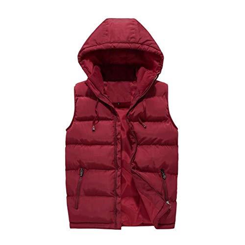 hiver Homme Rouge couleur Manches Amovible D'hiver Pour Matelassé Xxxxl coloré Automne Fuweiencore Chaud Sans 5xl Taille Taille Gilet Rouge 4wzqqt1p