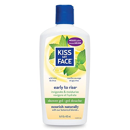 Bath & Shower Gel Early To Rise Wild Mint & Citrus - 16 oz by Kiss My Face B00AO0J4C6