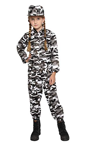 Kids Camo Camouflage Army Military Soilder Jumpsuit