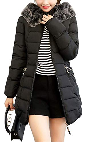 Casual Fourrure Noir Yogly Chaud Femme Manteaux S 6xl À Capuche xnYYrR0qS