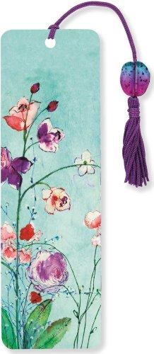 Fuchsia Blooms Beaded Bookmark