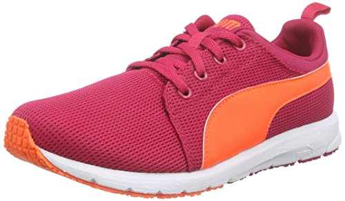 PumaCarson Run Junior - Zapatillas de running Unisex, para niños Rosa - Pink (rose red-fluo peach-white 21)