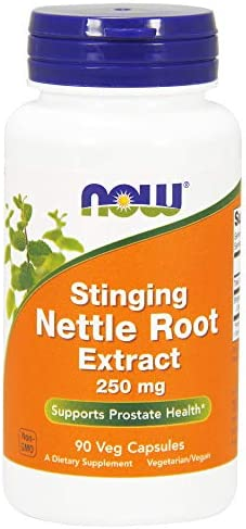 Now Foods Nettle Root Extractract 250mg, Veg-Capsules, 180-Count