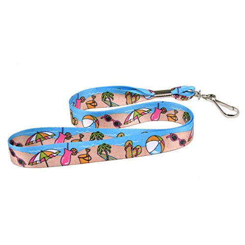 Design Lanyard (Beach Party - Vacation Theme Soft Neck Lanyard - Key or Badge ID Holder)