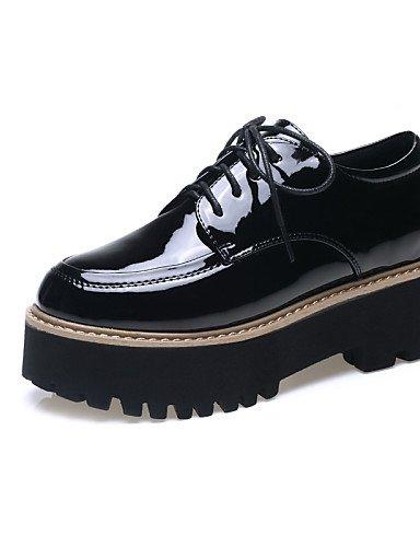 ZQ Hug Scarpe di mujer-tacón plano-creepers-sneakers a la moda-exterior/vestito/casual-cuero patentado-negro/argento/vermiglio, uk3.5 borgogna-us5.5 / eu36 / uk3.5 patentado-negro/argento/vermiglio, / cn35 borgogna-us5.5 / eu36 / uk3.5 / cn35 33366d