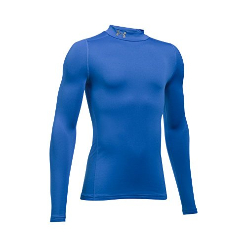 Under Armour Boys' ColdGear Armour Mock,Ultra Blue (907)/Graphite, Youth Medium - Boys Coldgear Long Sleeve