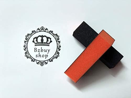 Bzbuy 10PC Nail Art Care Buffer Buffing Sanding Block Files 4 Way Polish Block Nail Files Art Pedicure Manicure Tips(Black Red)