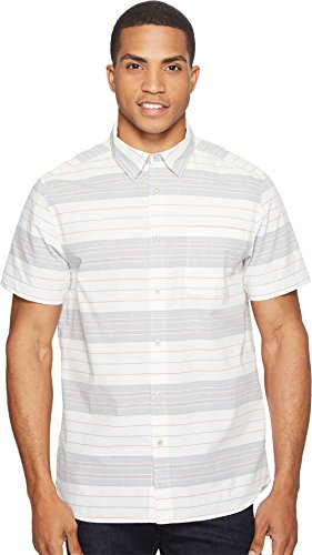 Poly Face (The North Face Chambray Pursuit SS Tee - Men's Vintage White Stripe Medium)