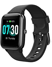 Smart Watch AIKELA Fitness Tracker Heart Rate Sleep Monitor Activity Tracker with 1.3'' Large Color Touch Screen 5ATM Waterproof with Multiple Sport Modes, Sleep Monitor, for Women Men Android iOS