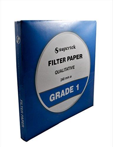 Filter Paper, Qualitative, Grade 1, 240 mm (Diameter) Pack of 100 sheets by Supertek (Image #2)'
