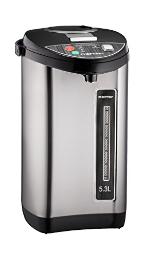 Chefman Instant Electric Hot Water Pot, Safety Lock to Prevent Spillage, 5.3 L / 5.6 Qt Hot Water Urn - RJ16-SS