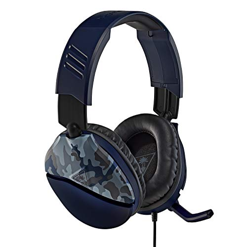 Turtle Beach Recon 70 Blue Camo Gaming Headset for PlayStation 4 Pro, PlayStation 4, Xbox One, Nintendo Switch, PC, and mobile – PlayStation 4