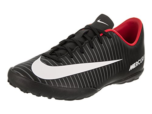Nike Kids Jr MercurialX Victory VI TF Black/White/Dark Grey Turf Soccer Shoe 5.5 Kids US