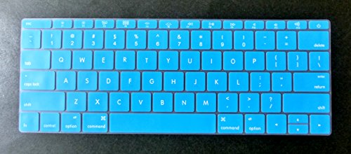 - US layout Keyboard Protector Skin Cover for Macbook pro 13'' A1708 without touch bar released 2016 Oct., macbook 12'' A1534 retina display with BingoBuy Card Case (blue)