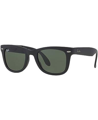 a8e2f3034bfd5 FOLDING WAYFARER Ray-Ban Polarized Classic Series Regular 50mm Lens Frame  Black Lens Polarized Green Classic G-15  Amazon.co.uk  Clothing
