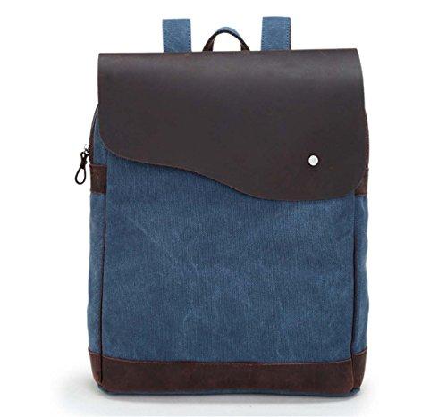 Bolso de bolsillo de la correa de la cruz del hombro del mensajero de la lona del vintage Blue