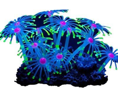 Lvcky - Acuario de Acuario con Efecto Brillante, Coral Artificial, para decoración de Peces, Color Amarillo: Amazon.es: Hogar