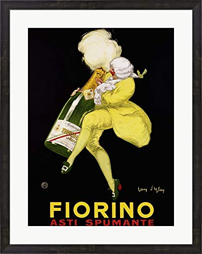 Fiorino Asti Spumante, 1922 by Jean D'Ylan Framed Art Print Wall Picture, Espresso Brown Frame, 26 x 33 inches ()