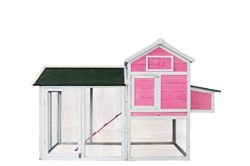 MCombo-0310-Deluxe-Wooden-Chicken-Rabbit-Poultry-Coop-Hen-House-Pet-Cage-Backyard-Pink