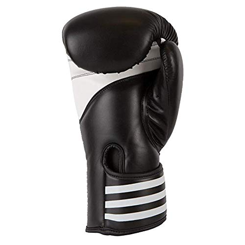 adidas Pro 100 Training Gloves, Black/White, 16 oz