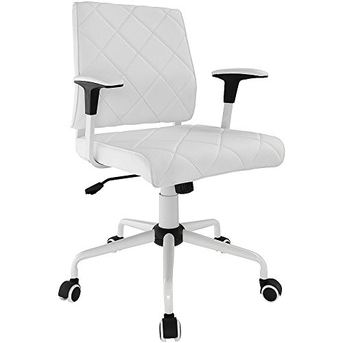 Modern Modway Lattice Vinyl Office Chair, Comfortable Back S